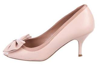 RED Valentino Leather Peep-Toe Pumps
