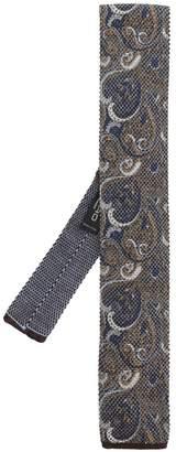 Etro paisley print square-tip tie