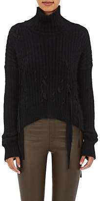 Helmut Lang Women's Grosgrain-Accented Funnel Neck Sweater $745 thestylecure.com