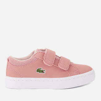 fed866a5f Lacoste Toddler s Straightset 318 1 Velcro Trainers - Pink Natural