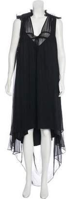Thomas Wylde Ruffled Maxi Dress