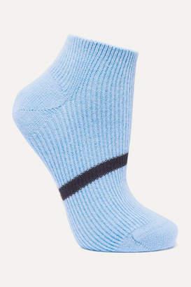 Maria La Rosa Striped Ribbed Cashmere Socks
