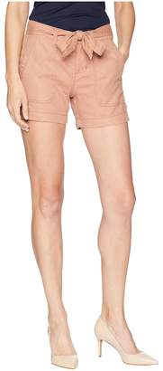 Liverpool Kinley Shorts with Tie Belt in Soft Stretch Linen in Tuscan Sunset Women's Shorts