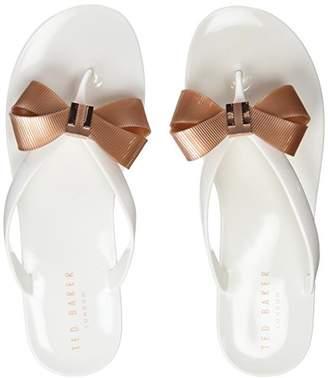 Ted Baker Womens Suzie Open Toe Sandal, White, (39 EU)