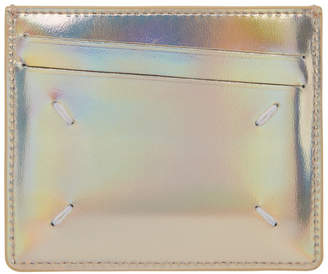 Maison Margiela Gold Metallic Card Holder
