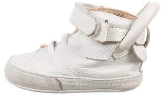 Buscemi Boys' Leather Round-Toe Sneakers