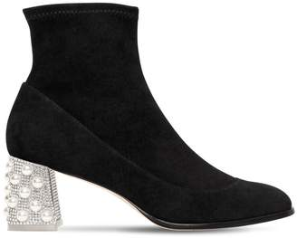 Sophia Webster 60mm Felicity Stretch Suede Ankle Boots