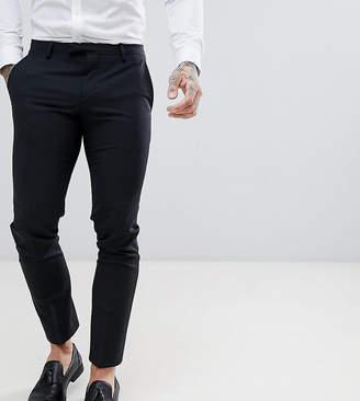 Noose & Monkey Super Skinny Wool Mix Suit Pants In Black