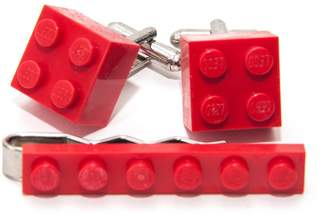 Lego Jeff Jeffers Customs Men's Tie Clip & Cufflink Set - Funky Retro Cool Cuff Links