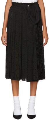 Comme des Garcons Black Pleated Skirt