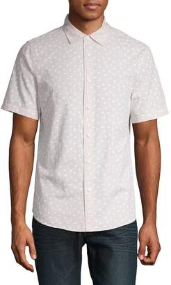 Core Life Short Sleeve Button-Down Graphic Print Shirt