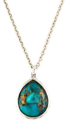 Ippolita Turquoise & Quartz Rock Candy Medium Teardrop Pendant Necklace