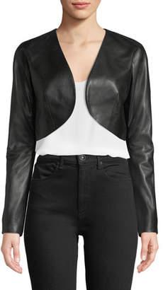 Milly Cropped Leather Bolero Jacket