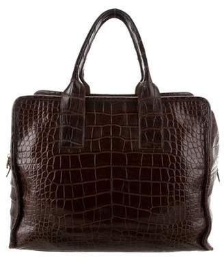 Ghurka Alligator Weekender Bag