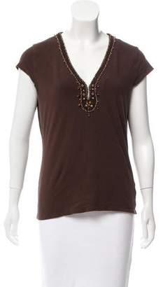 MICHAEL Michael Kors Embellished Short Sleeve Top
