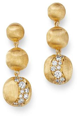 Marco Bicego 18K Yellow Gold Africa Precious Diamond Boules Drop Earrings
