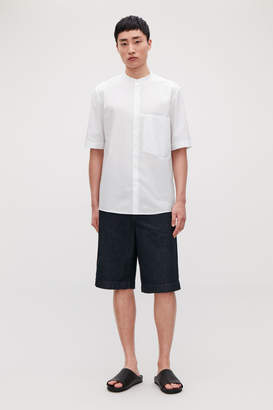 Cos Short-sleeve grandad-collar shirt