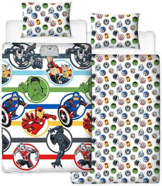 Disney Marvel Avengers Strong Single Duvet Cover Set