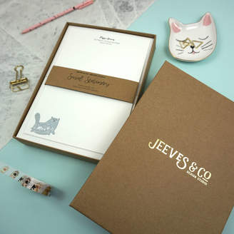 Design Studio Jeeves & Co. Personalised Cat Attack Writing Paper