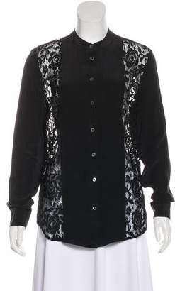 Equipment Guipure Lace Button-Up Top w/ Tags