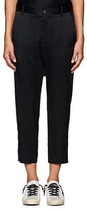 Nili Lotan Women's Paris Silk Drop-Rise Crop Trousers