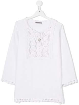 Ermanno Scervino crochet bib blouse