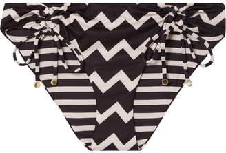 Stella McCartney Drawstring Tunnels Printed Bikini Briefs - Black
