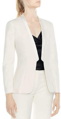 Halston Tailored Bias-Cut Crepe Blazer