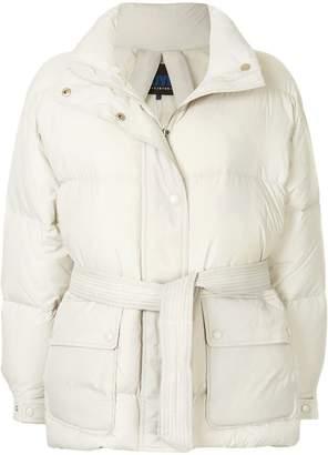 Sjyp belted puffer jacket