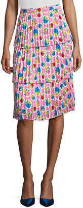 Manoush Tiered Floral Skirt