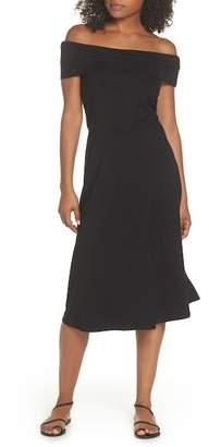 BB Dakota Lexi Off the Shoulder Knit Midi Dress