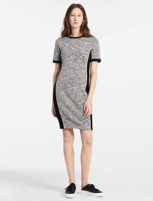 Calvin Klein melange knit short sleeve dress