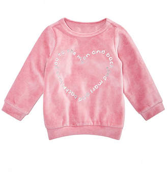 First Impressions Toddler Girls Heart Graphic Velour Sweatshirt, Created for Macy's