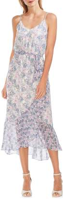 Vince Camuto Floral-Print Asymmetrical Midi Dress