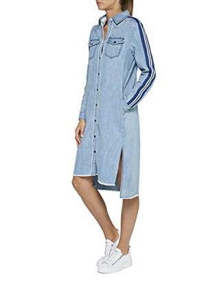 Replay Women's W9558b.000.26c 477 Dress, (Light Blue 10)