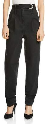 Maje Parisso Tapered Jeans in Black