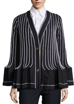 Thom Browne Accordion Wool-Blend Pleated Blazer $4,900 thestylecure.com