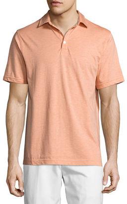 Peter Millar Crown Melange Polo Shirt $125 thestylecure.com