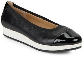Adrienne Vittadini Gilsa Leather Skimmer Flats $89 thestylecure.com