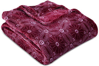 "Berkshire VelvetLoft Dot Mandala 60"" x 90"" Bed Blanket"