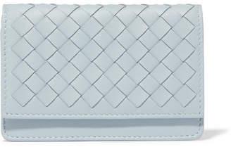 Bottega Veneta Intrecciato Leather Wallet - Light blue