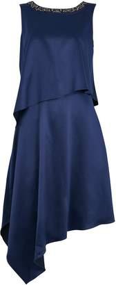 Wallis Navy Embellished Layered Dress