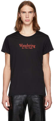 Ann Demeulemeester Black Wandering In The Dark T-Shirt