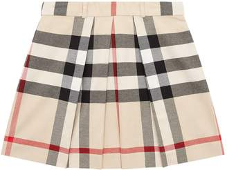 Burberry House Check Pleated Skirt