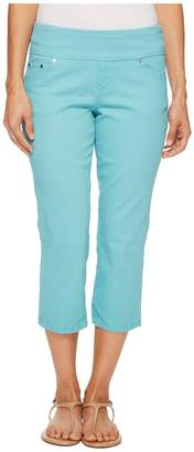 Jag Jeans Petite Petite Peri Straight Pull-On Twill Crop in Caribbean Women's Jeans
