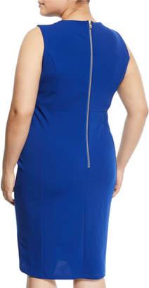 Neiman Marcus Short Sleeveless Princess Dress, Plus Size