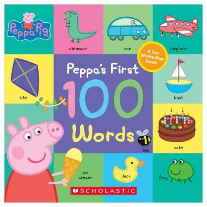Peppa's First 100 Words - (Peppa Pig) (Paperback)