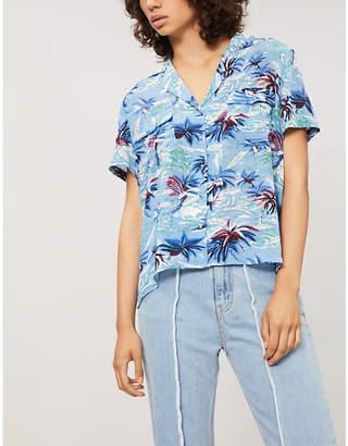The Kooples Hawaii print china crepe shirt