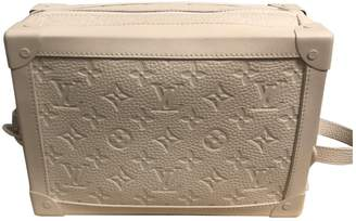 Malle Trunk White Leather Bag