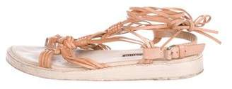 Ann Demeulemeester Leather Multistrap Sandals